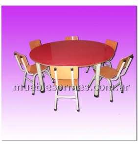 Mesa redonda para jardín de infantes | Art. 32 | 1,20 m